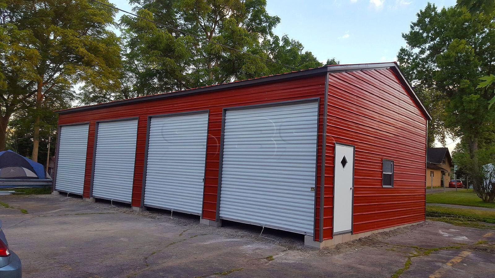 24'x46' Side Entry Metal Garage Workshop