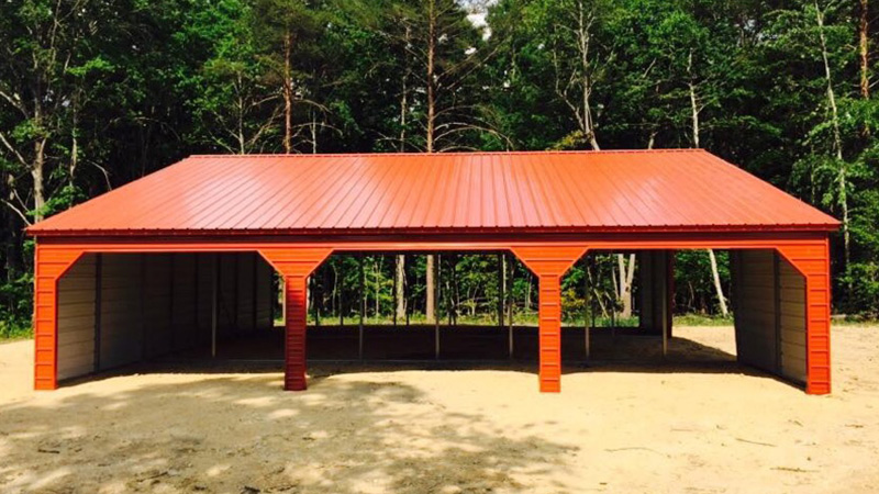44'x41' Straight line Roof Metal Barn