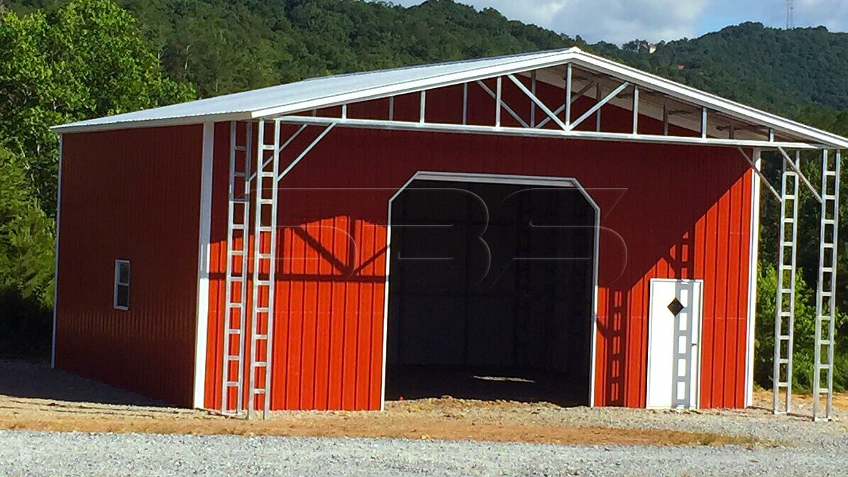 32x36 Clear Span Steel Building