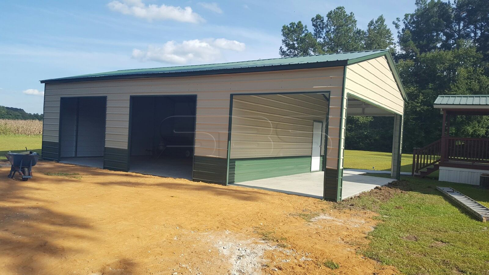 24'x41' Side Entry Garage With Shed