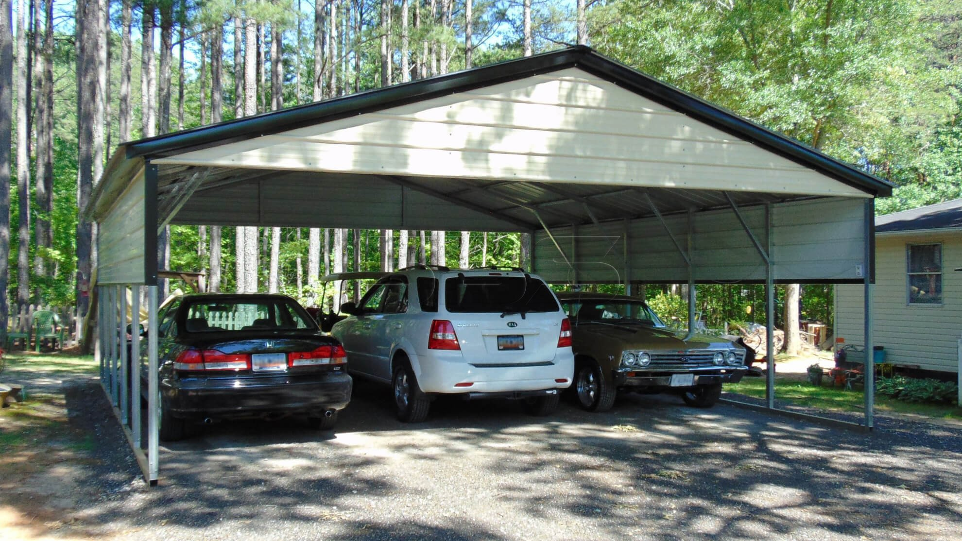 24x26 Triple Wide Metal Carport