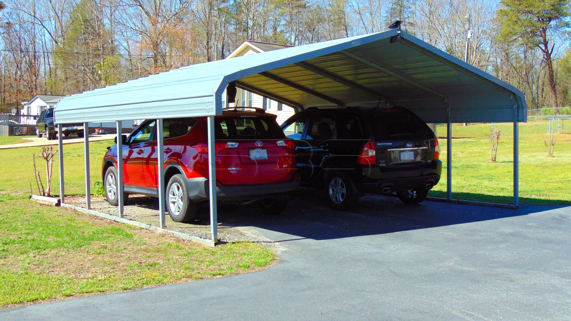 18'x21' Two Car Steel Carport