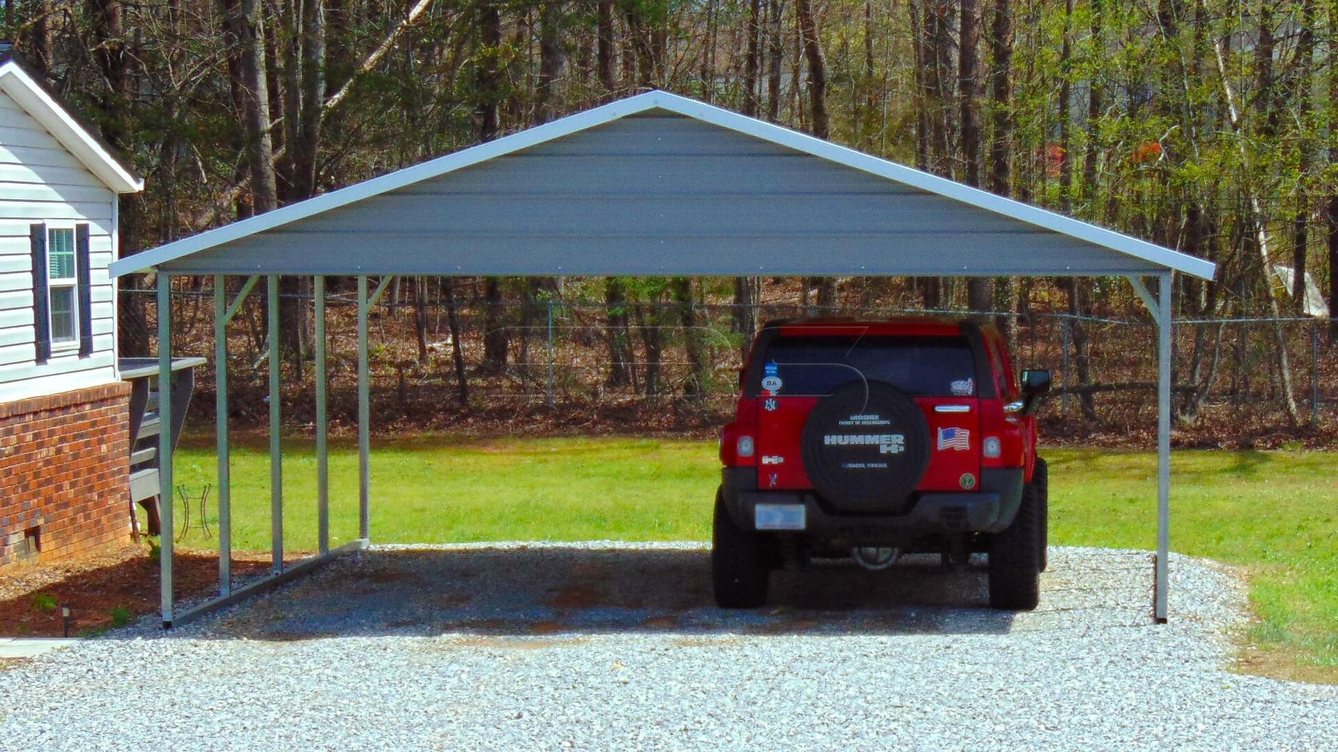 20'x21' Boxed Eave Metal Carport