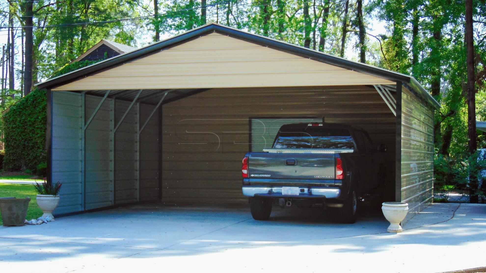 22x31 Vertical Roof Utility Carport
