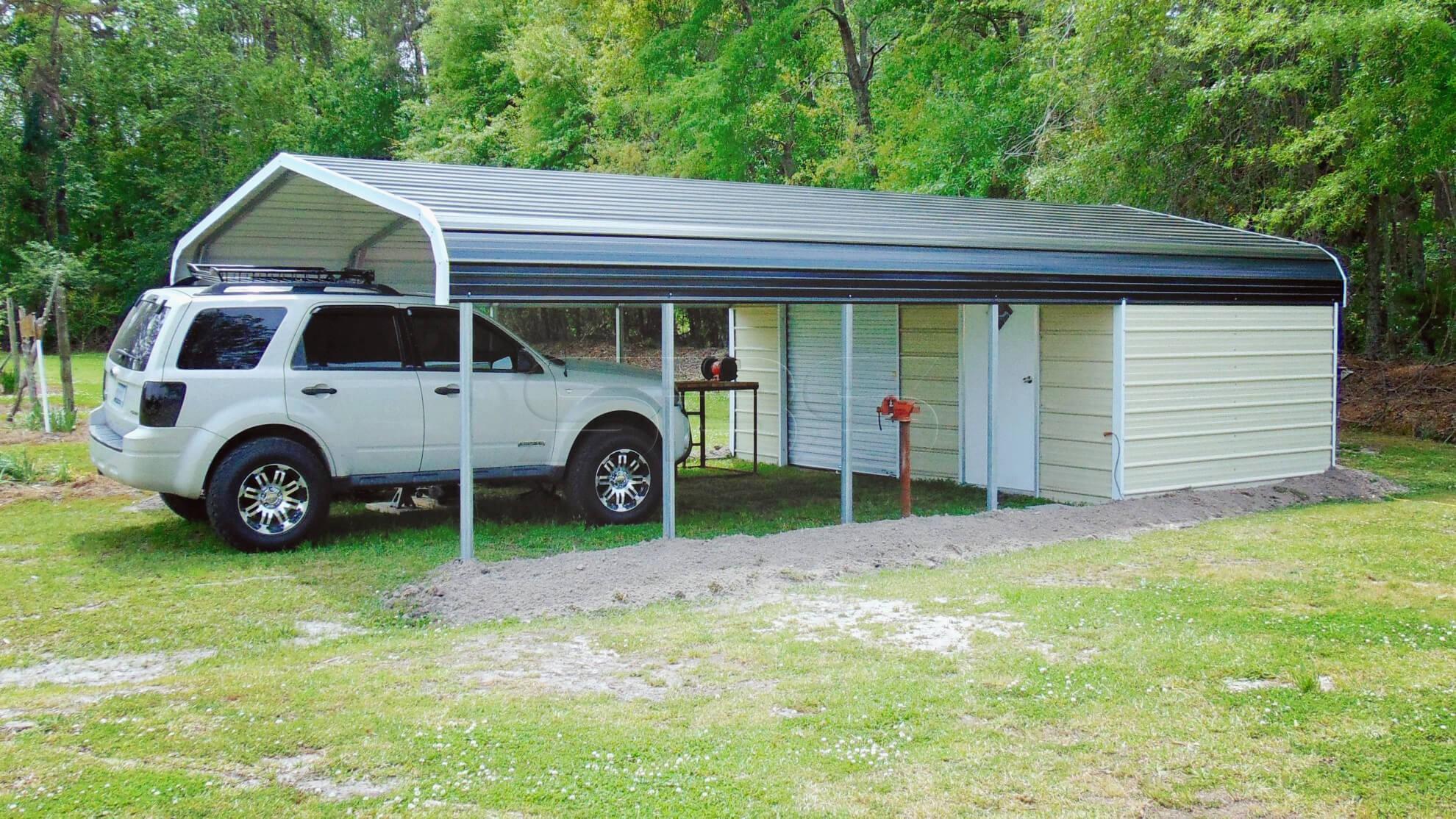 18x31 Utility Metal Carport