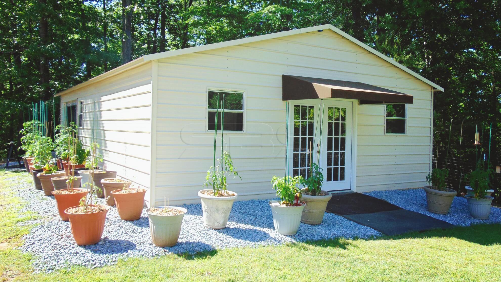 24x36 Metal Garage Home