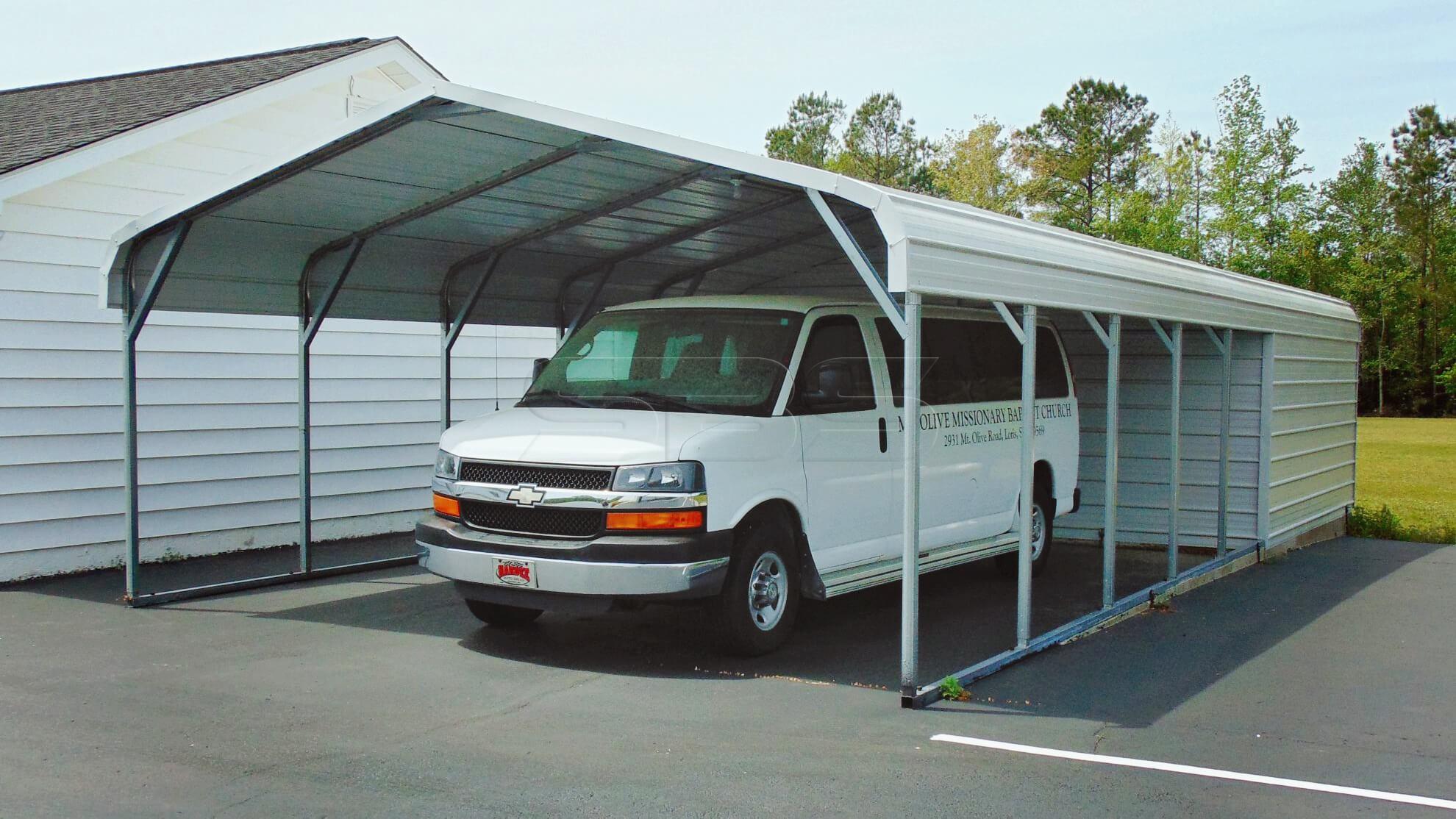 18x36 Regular Roof Utility Carport